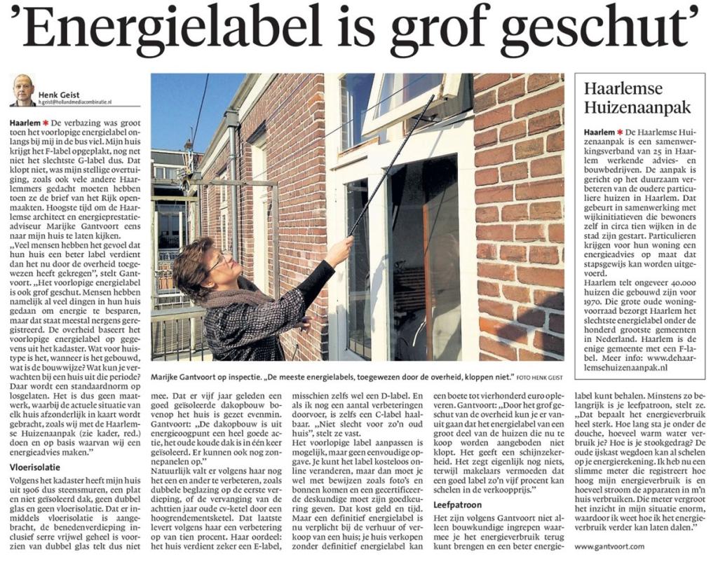 Interview met `Marijke Gantvoort' van de Haarlemse Huizenaanpak